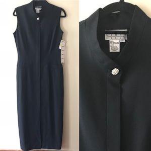 Kenar Dresses Black Fitted Maxi Sleek Buttonup 10